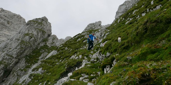 Abstieg unterhalb der Cima Verde