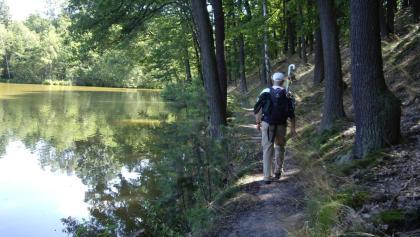 Wanderer am Triftsee