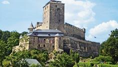 Die Burg Kost am Elberadweg