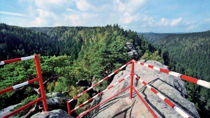 Adršpach-Teplitzer Felsen - die Burg Střmen