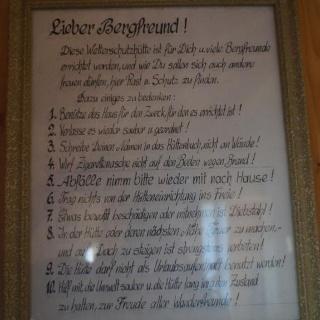Hüttenregeln