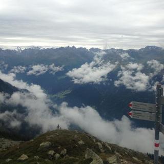 Blick von der Gabelung ins Silvretta Massiv (Scheimersch)