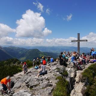 Das Gipfelkreuz des Iseler