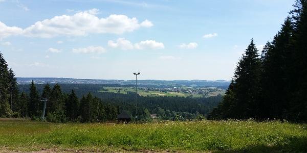 Panoramablick von der Berghütte Lauterbad