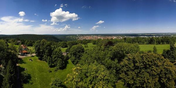 Panoramablick vom Friedrichsturm