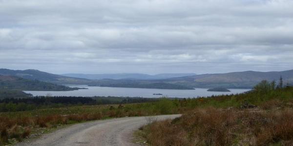 Erster Blick auf den Loch Lomond