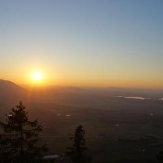 Kurz vor Sonnenuntergang ist der Gipfel erreicht