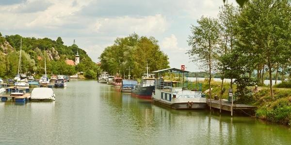 Hafen in Marbach
