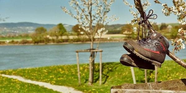 Rastmöglichkeit entlang der Donau in Ybbs