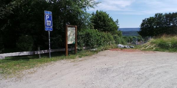 Der Wanderparkplatz Robbecke
