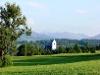 Ausblick mit Kirche St. Michael im Vordergrund  - @ Autor: Gabriele Postner  - © Quelle: Kur- u. Tourismusbüro Oy-Mittelberg