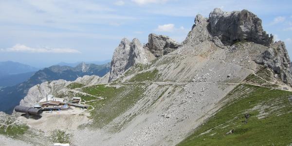 Die Bergstation der Karwendelbahn