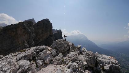Gipfelkreuz an der Punta Fiames