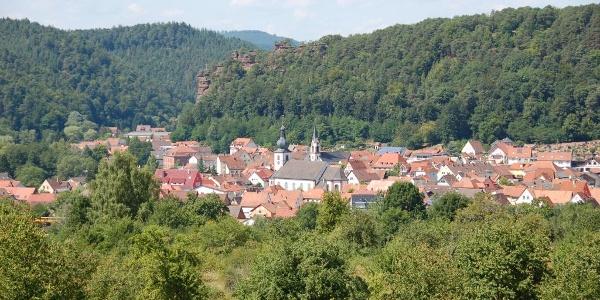 Blick auf die Stadt Dahn