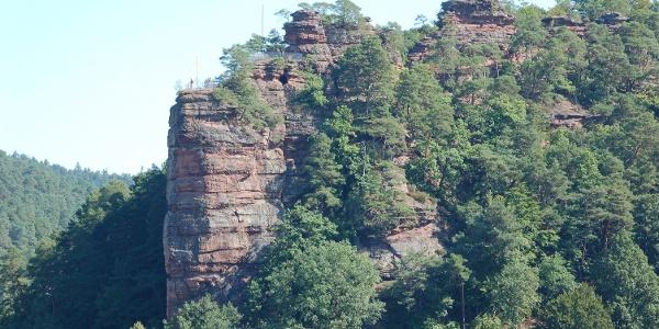 Jungfernsprung Wahrzeichen der Stadt Dahn