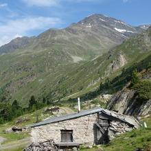 Bei der Materialseilbahn der Hildesheimer Hütte