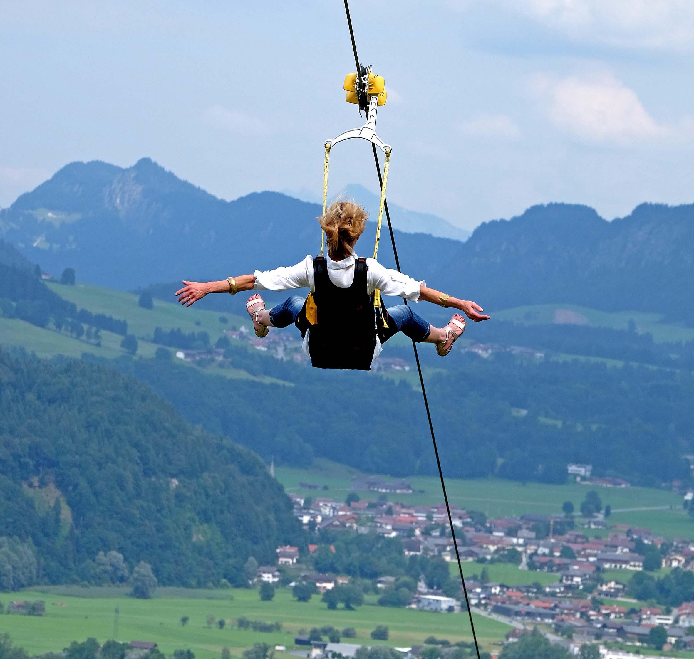 Flying Fox Oberaudorf - Radtour ab Kiefersfelden