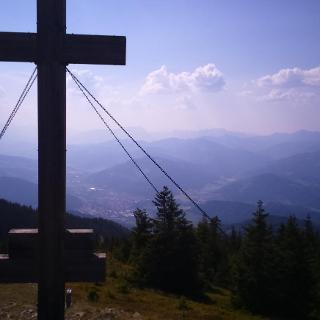 Gipfelkreuz Aussicht nach Bruck