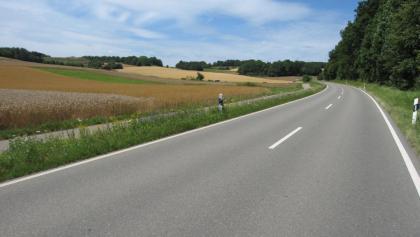 Auf der Anhöhe von Gechingen nach Althengstett