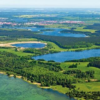 Luftbild der Mecklenburgischen Seenplatte