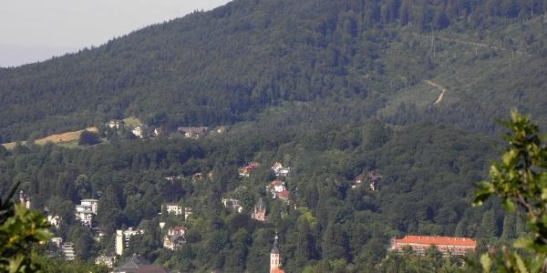 Blick auf Baden-Baden von der Teufelskanzel