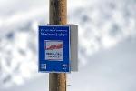 Wegmarkierung auf dem Wintermärchen