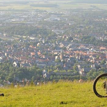 Fahrradtour mit Blick über Goslar