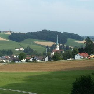 Blick vom Hungersberg nach St. Wolfgang