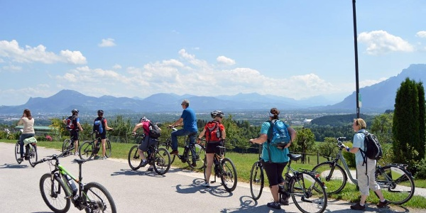Ausblick vom Högl auf Salzburg und Gaisberg