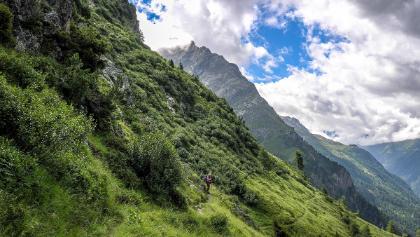 Steil geht es ins Tal – ein falscher Tritt und es gibt eine Rutschpartie ins Tal