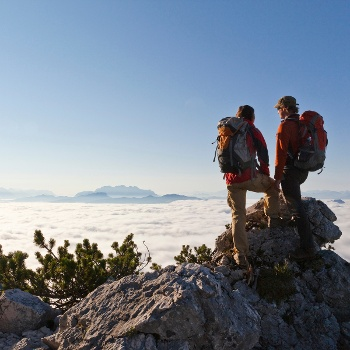 Wanderer auf Gipfel