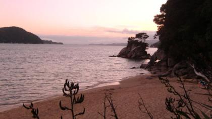 Sonnenuntergang im Abel Tasman Nationalpark