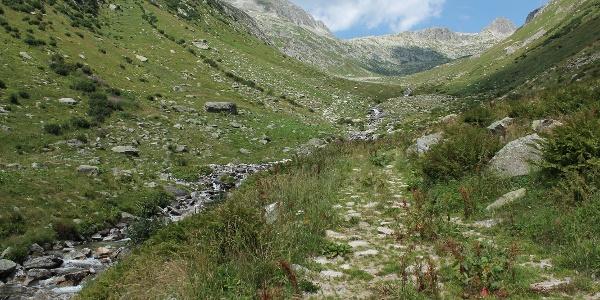 Aufstieg durch das Val Milà