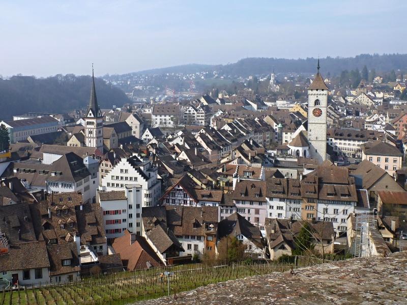 Altstadt von Schaffhausen mit Münster- und St. Johannturm