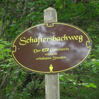 Schaftersbachweg-Wegweise