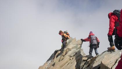 Über meist festem Fels zum Gipfel