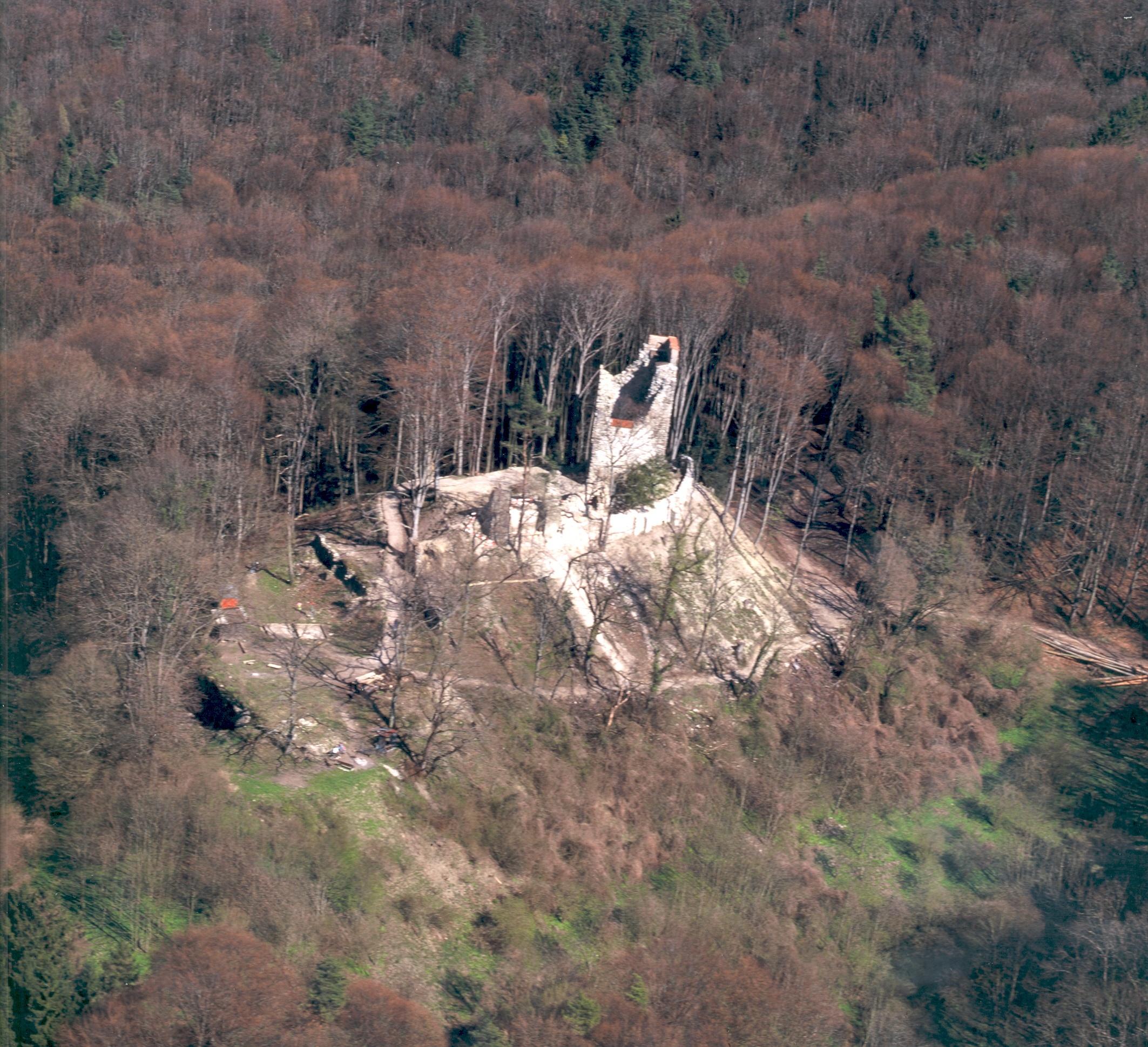 Luftansicht Ruine Neuburg