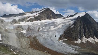 Die Innere Schwarze Schneid (links) und der Linke Fernerkogel (rechts). Aufgenommen vom Karles Kopf 2.901 m