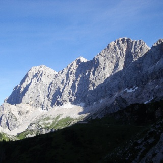 Dachstein Südwand (Foto vom 1. August)