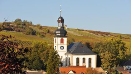 Blick auf die Martinskirche Jugenheim