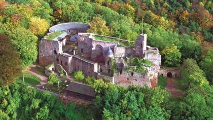 Luftbild Burg Nanstein