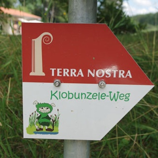 Schild Klobunzele-Weg