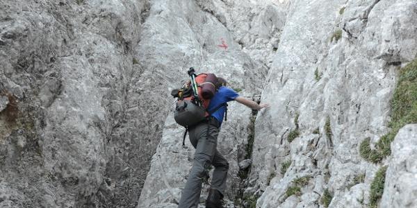 Der Hochthron-Südgrat bietet hübsche, leichte Kletterei (II-III)