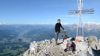 Blick vom Hochthron übers Salzachtal auf Tauern und Hochkönig