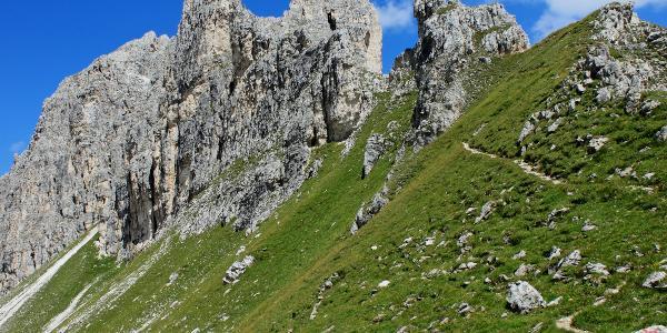 Die letzen Höhenmeter zum Gipfel der Gargglerin.