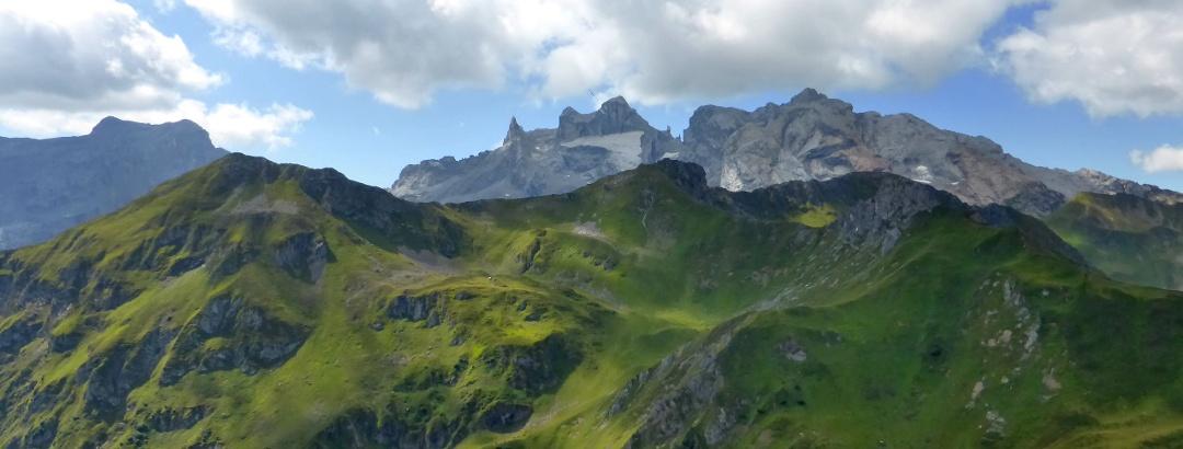Geißspitze mit den Drei Türmen im Hintergrund
