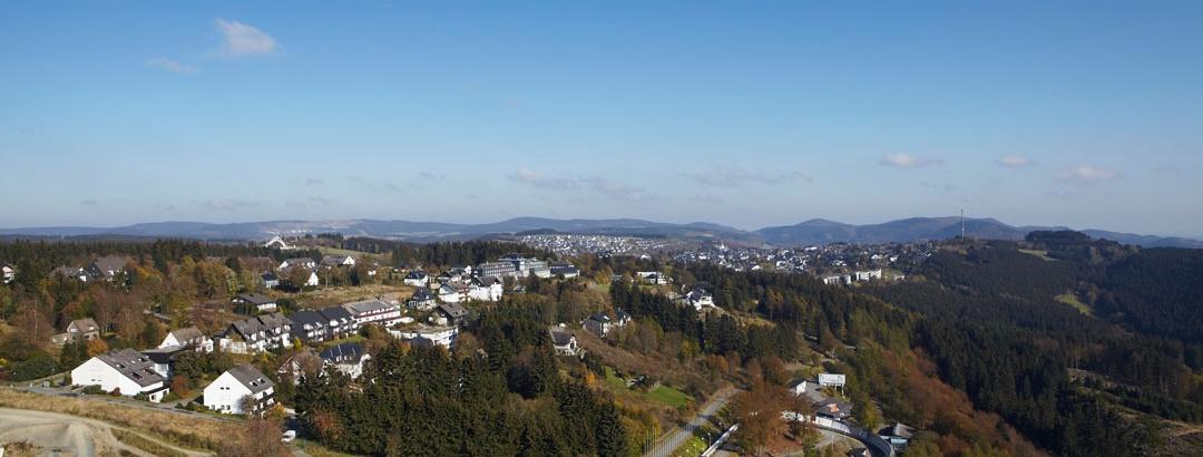Blick von der Kappe auf Winterberg