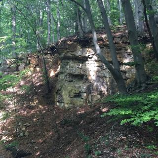 Steinschichten beim Aufsteig