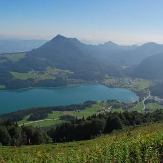 Blick vom Filbling nach Fuschl am See