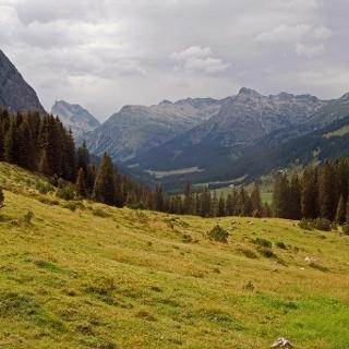 Blick ins Lechquellengebirge